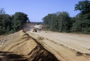 Roadway construction at RIDC Industrial Park